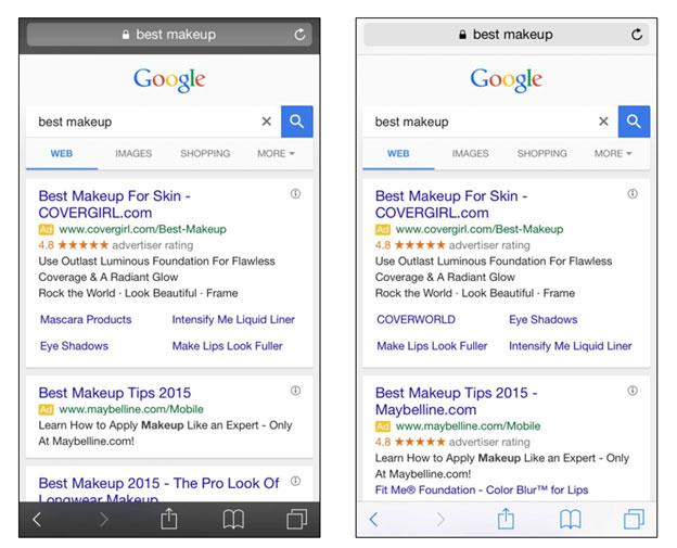 mobile resultats naturels google