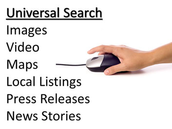 universal search seo google