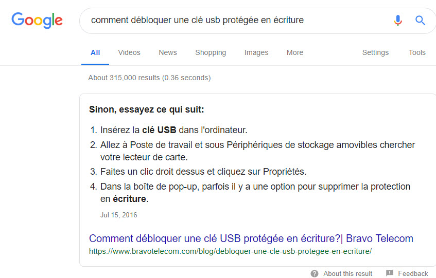 debloquer-cle-usb-featured-snippet