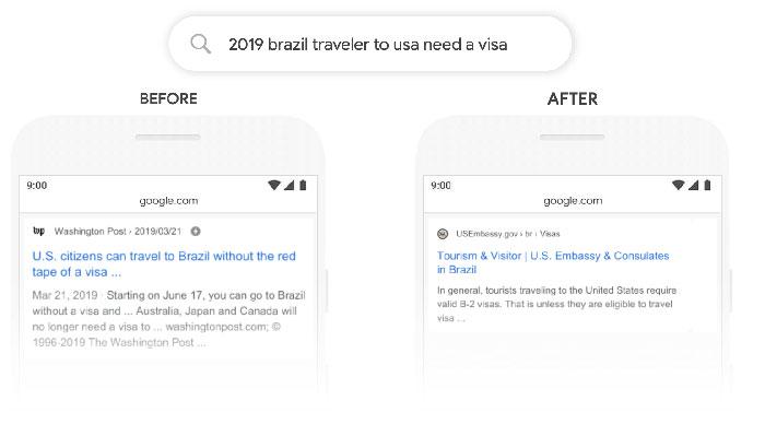Google Bert Exemple en action